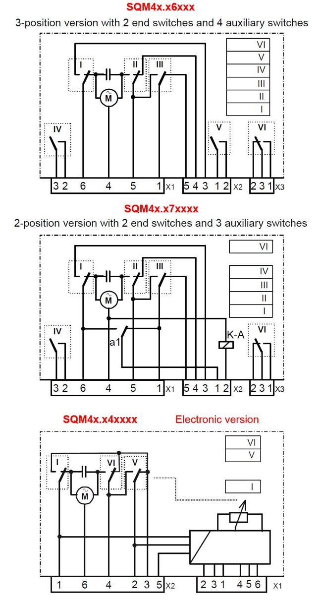 SIEMENS SQM40, SQM41 SCHEMA_ELECTRICA