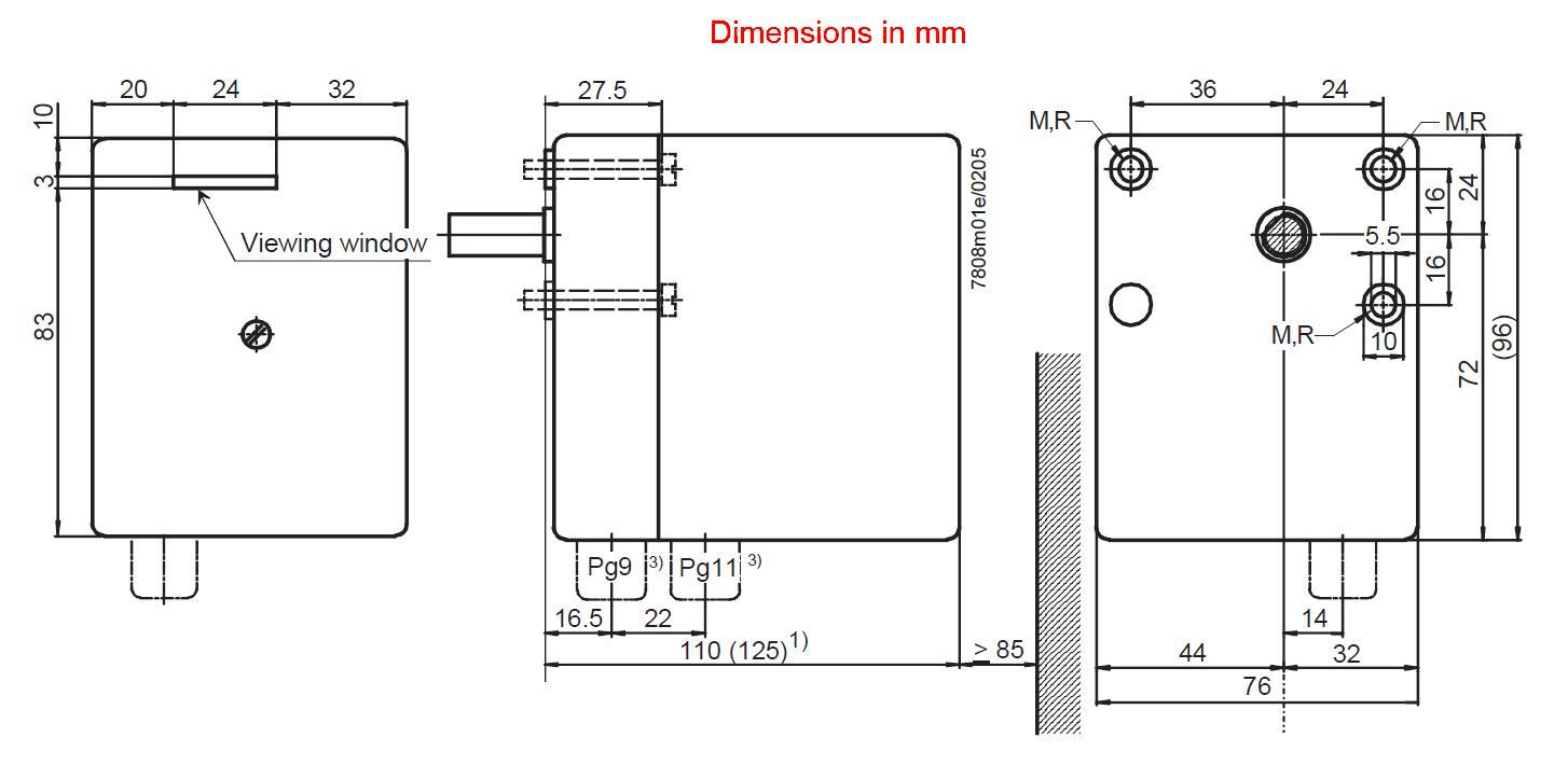 Servomotor SIEMENS SQN31…, SQN41… - dimensiuni